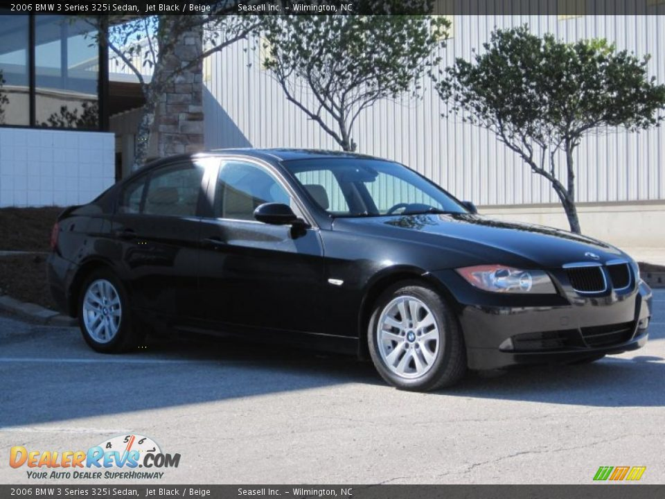 2006 bmw 3 series 325i sedan jet black beige photo 13. Black Bedroom Furniture Sets. Home Design Ideas