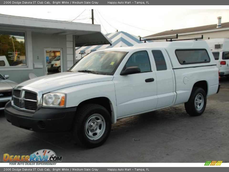 2006 dodge dakota st club cab bright white medium slate gray photo 2. Black Bedroom Furniture Sets. Home Design Ideas
