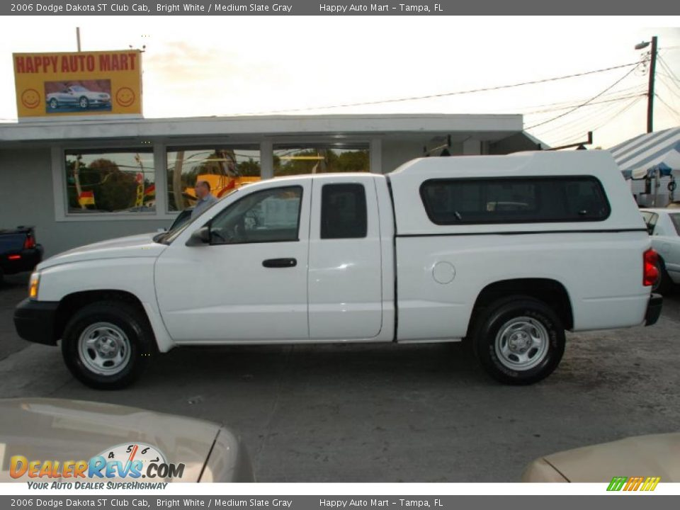 2006 dodge dakota st club cab bright white medium slate gray photo 3. Black Bedroom Furniture Sets. Home Design Ideas