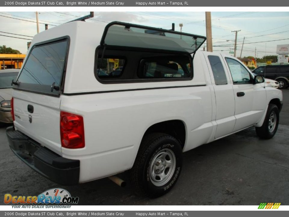 2006 dodge dakota st club cab bright white medium slate gray photo 8. Black Bedroom Furniture Sets. Home Design Ideas