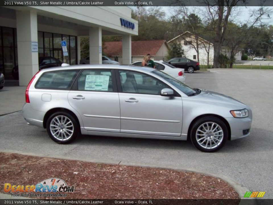Silver metallic 2011 volvo v50 t5 photo 10 dealerrevs com