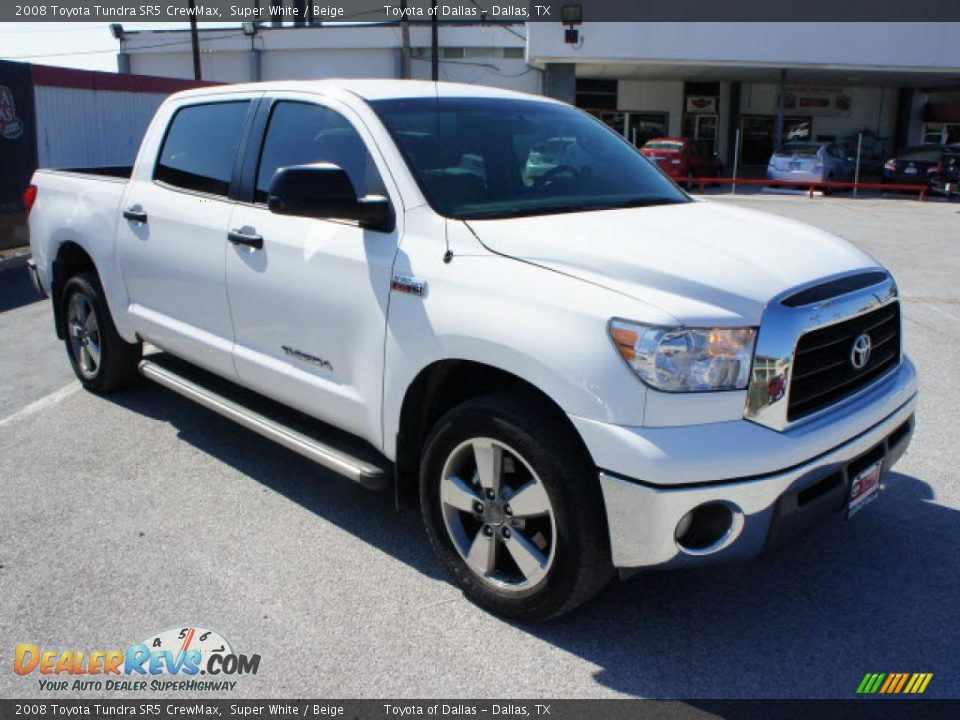 2008 Toyota Tundra Sr5 Crewmax Super White Beige Photo
