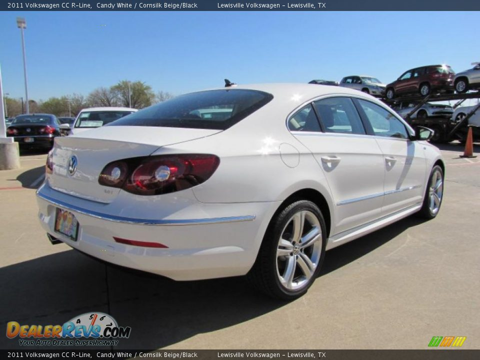 2011 volkswagen cc r line candy white cornsilk beige black photo 2. Black Bedroom Furniture Sets. Home Design Ideas