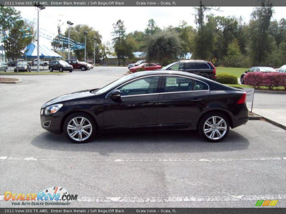 2011 volvo s60 t6 awd ember black metallic soft beige. Black Bedroom Furniture Sets. Home Design Ideas
