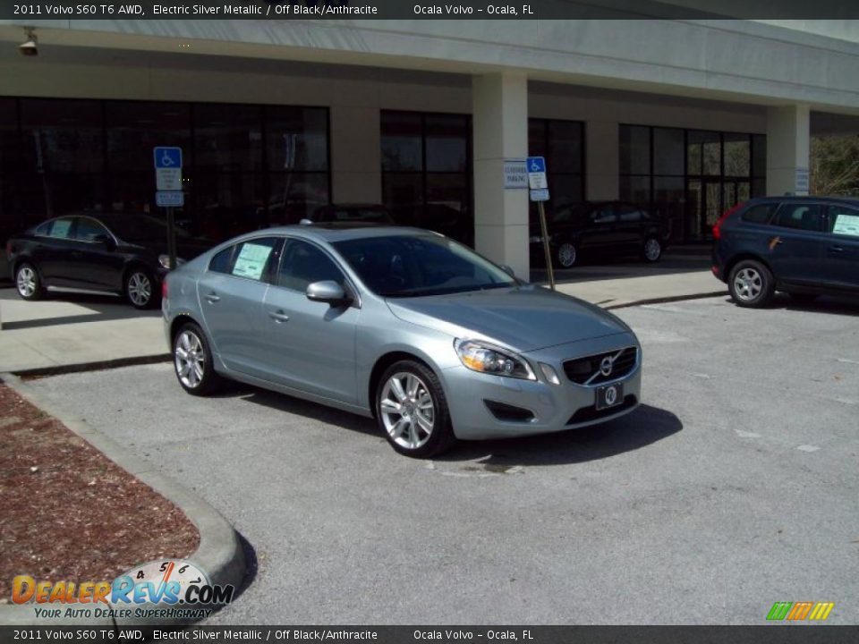 2011 volvo s60 t6 awd electric silver metallic off black. Black Bedroom Furniture Sets. Home Design Ideas