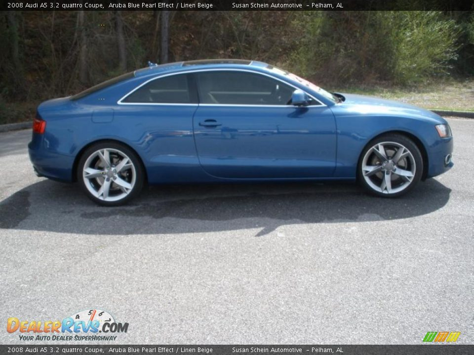 2008 audi a5 3 2 quattro coupe aruba blue pearl effect. Black Bedroom Furniture Sets. Home Design Ideas
