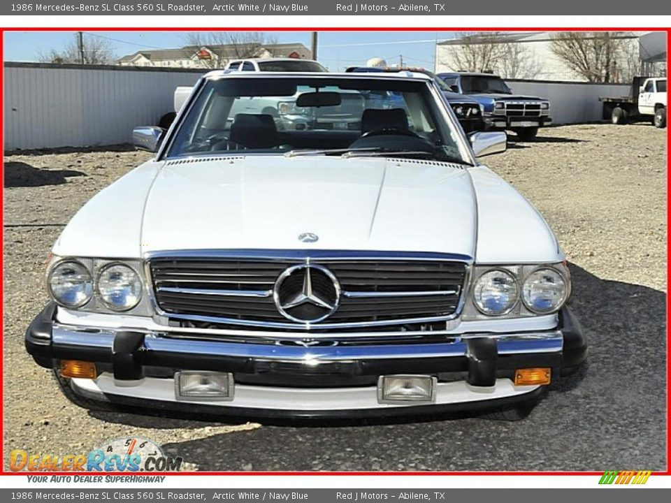 1986 mercedes benz sl class 560 sl roadster arctic white for Navy blue mercedes benz