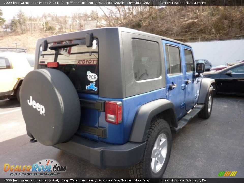 2009 Jeep Wrangler Unlimited X 4x4 Deep Water Blue Pearl