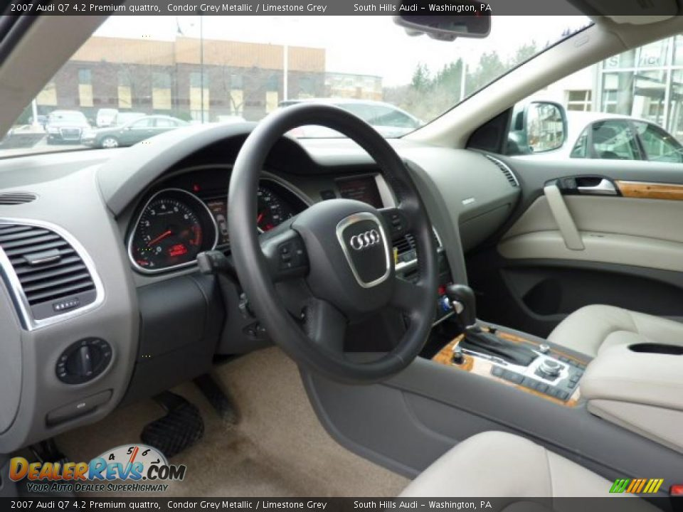 Limestone Grey Interior 2007 Audi Q7 4 2 Premium Quattro