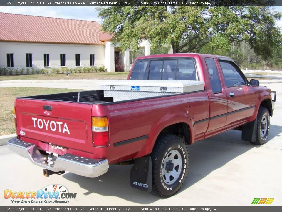 1993 toyota pickup deluxe extended cab 4x4 garnet red pearl gray photo 3. Black Bedroom Furniture Sets. Home Design Ideas