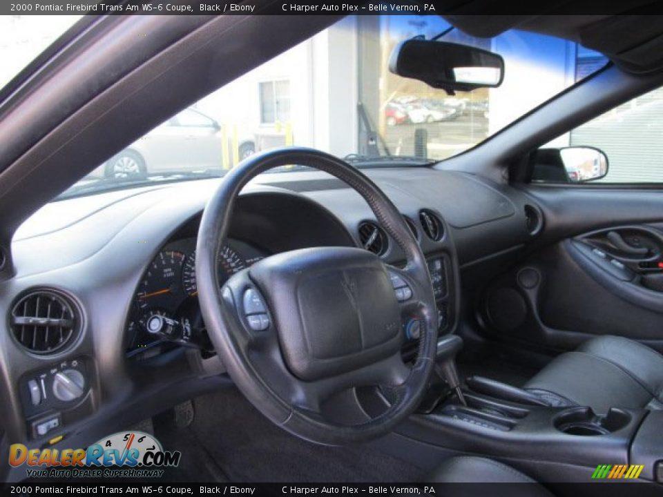 Ebony Interior 2000 Pontiac Firebird Trans Am Ws 6 Coupe Photo 16