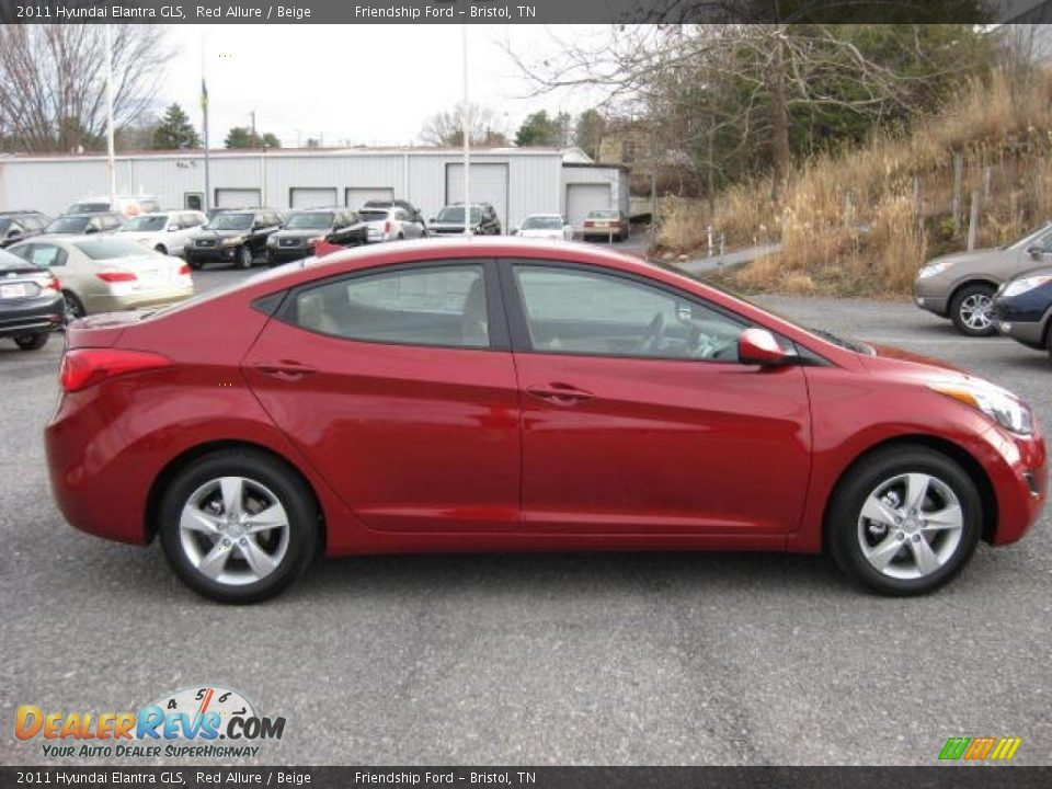 2011 Hyundai Elantra Gls Red Allure Beige Photo 5