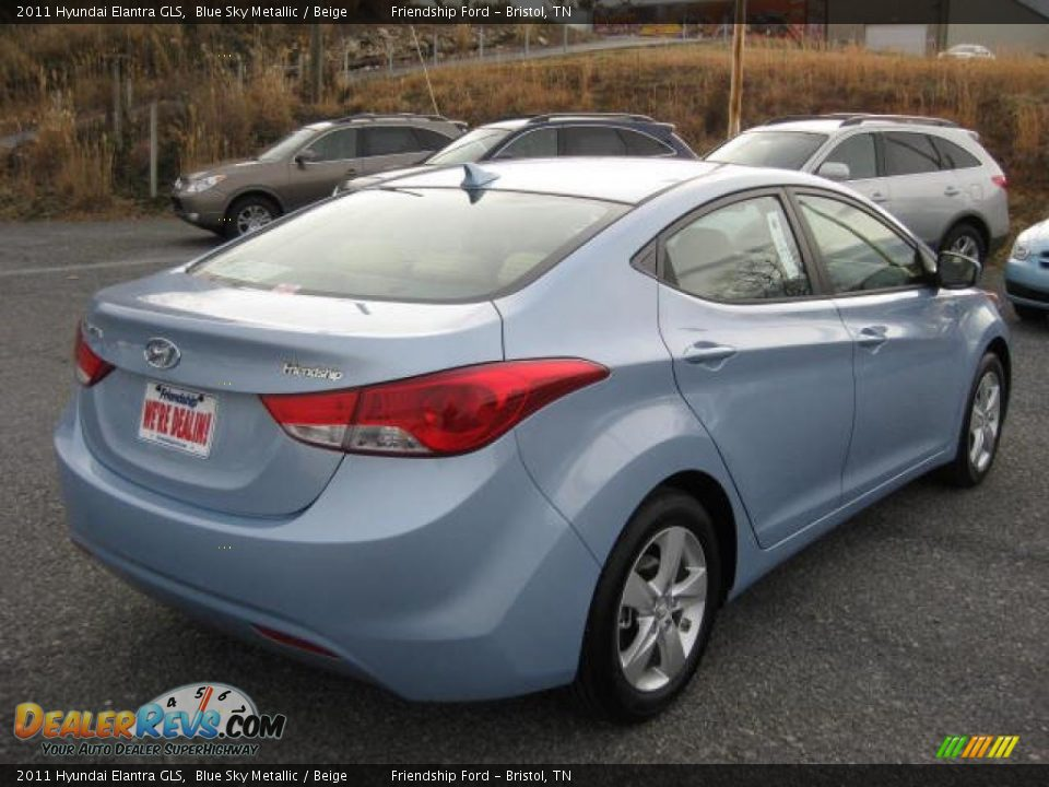 2011 Hyundai Elantra Gls Blue Sky Metallic Beige Photo
