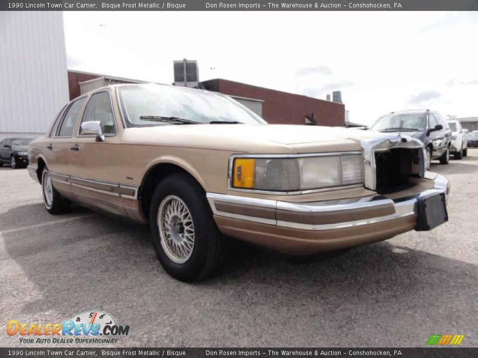 1990 lincoln town car cartier bisque frost metallic for State motors lincoln dealer manchester nh