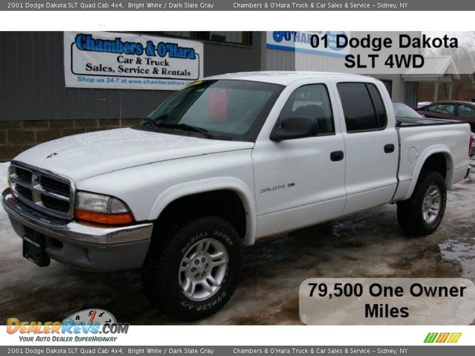 2001 Dodge Dakota Slt Quad Cab 4x4 Bright White Dark