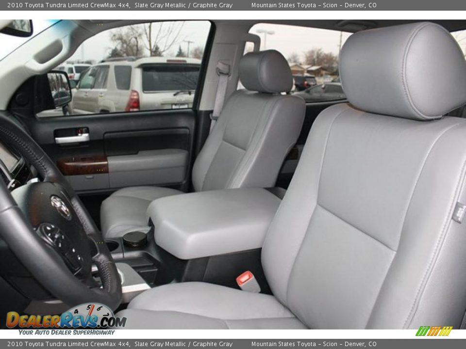 2010 Toyota Tundra Limited CrewMax 4x4 Slate Gray Metallic / Graphite Gray Photo #9