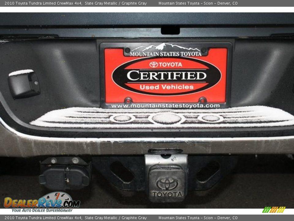 2010 Toyota Tundra Limited CrewMax 4x4 Slate Gray Metallic / Graphite Gray Photo #34