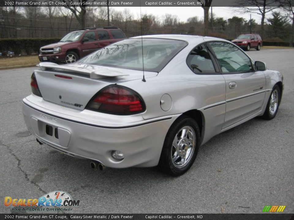 2002 pontiac grand am gt coupe galaxy silver metallic dark pewter photo 4. Black Bedroom Furniture Sets. Home Design Ideas