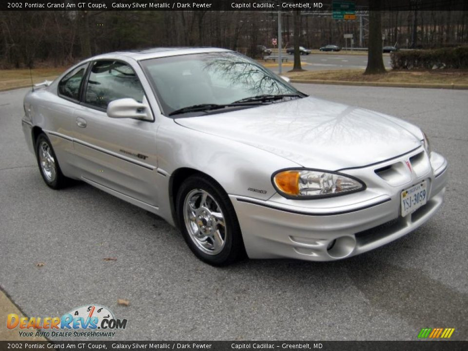 2002 pontiac grand am gt coupe galaxy silver metallic dark pewter photo 6. Black Bedroom Furniture Sets. Home Design Ideas