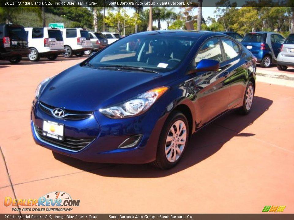 2011 Hyundai Elantra Gls Indigo Blue Pearl Gray Photo 1 Dealerrevs Com