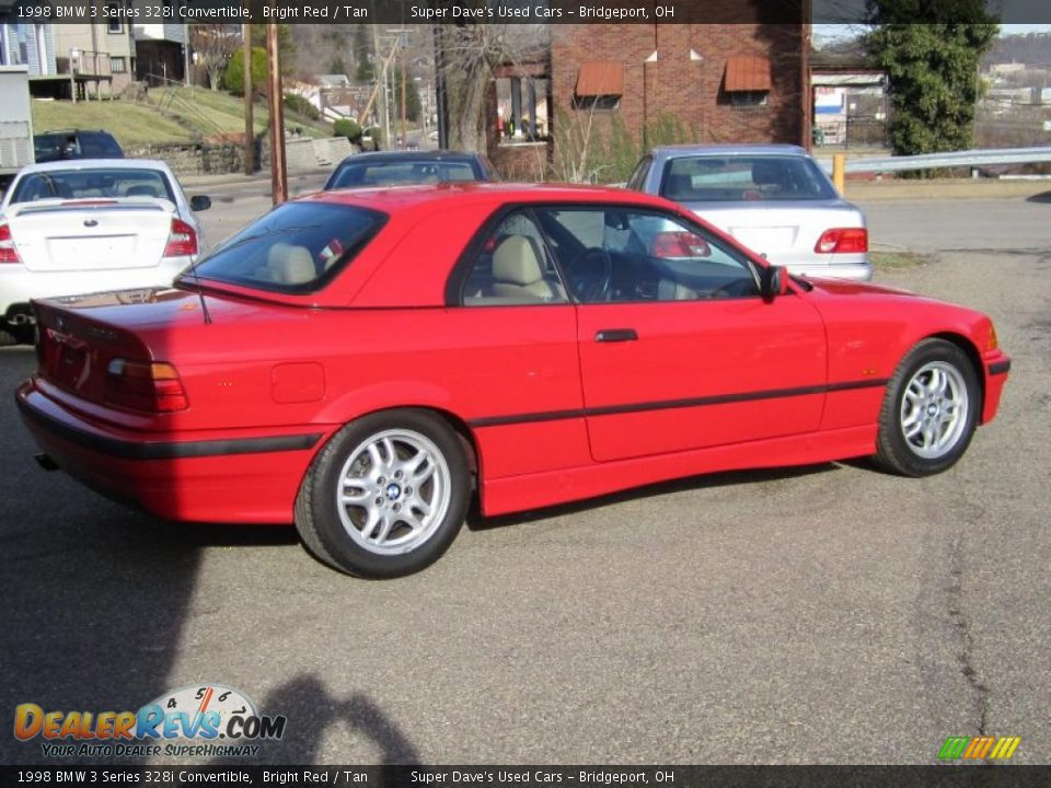 1998 bmw 3 series 328i convertible bright red tan photo 4 dealerrevs