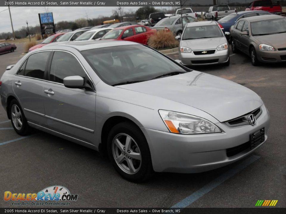 2005 honda accord ex sedan satin silver metallic gray for Grey honda accord