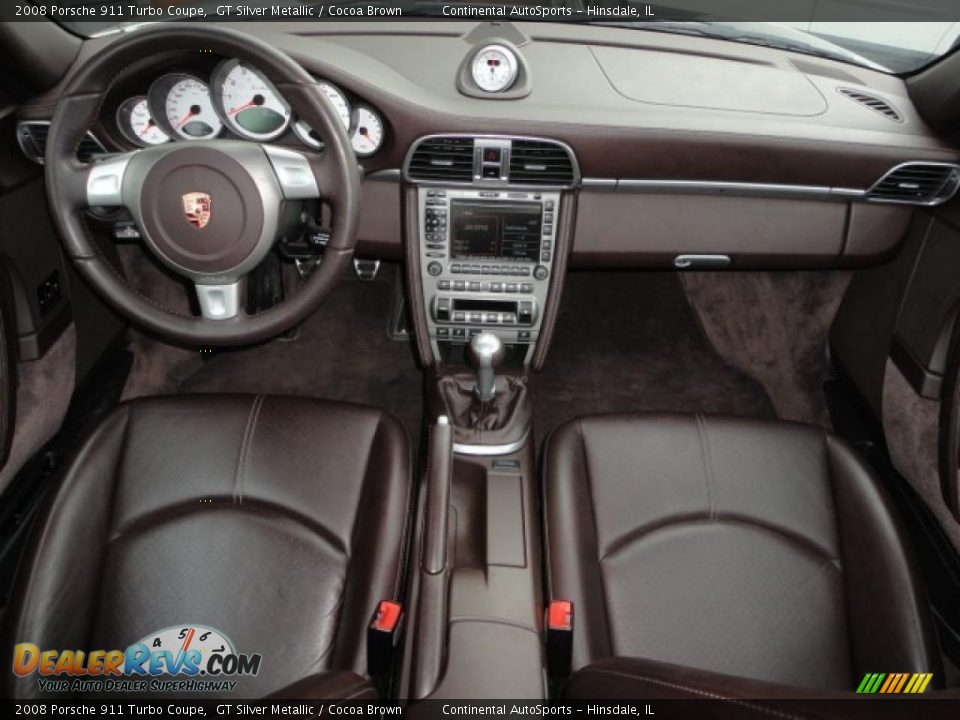 cocoa brown interior 2008 porsche 911 turbo coupe photo 17. Black Bedroom Furniture Sets. Home Design Ideas