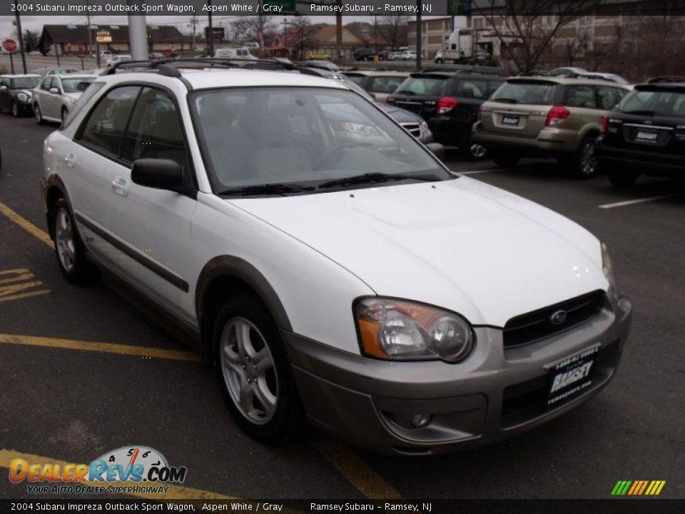 2004 Subaru Impreza Outback Sport Wagon Aspen White Gray