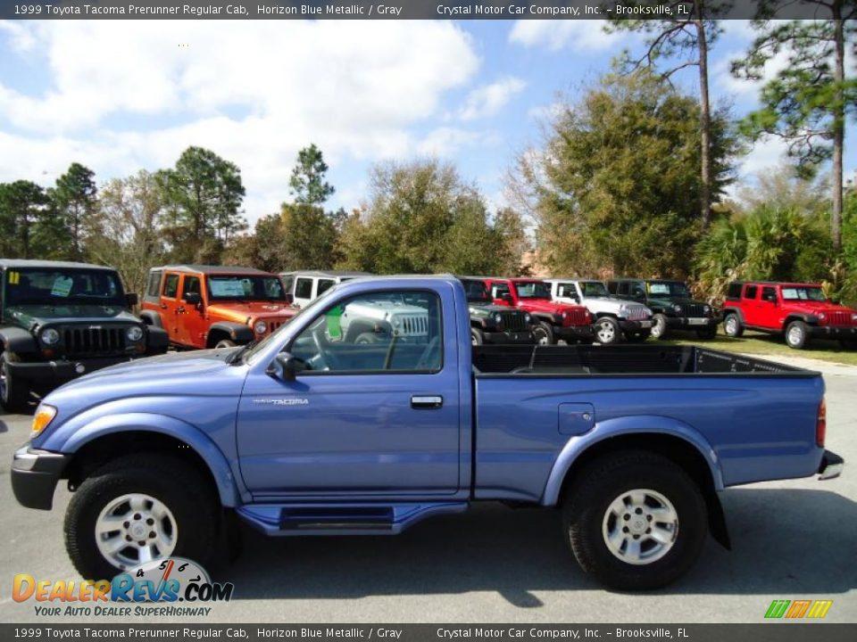 Horizon Blue Metallic 1999 Toyota Tacoma Prerunner Regular