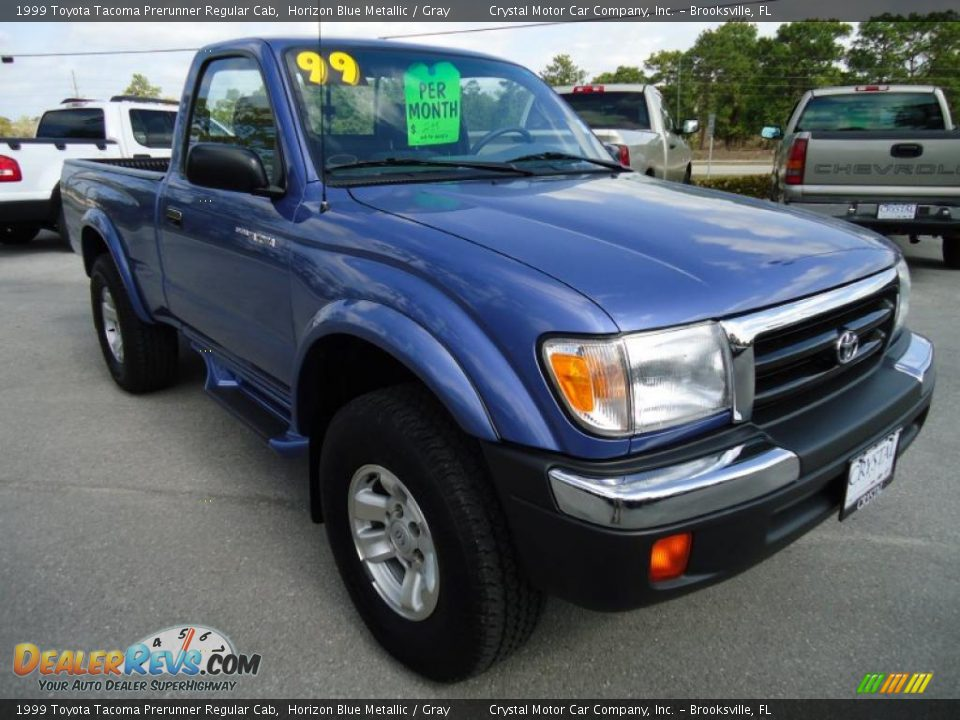 Front 3 4 View Of 1999 Toyota Tacoma Prerunner Regular Cab