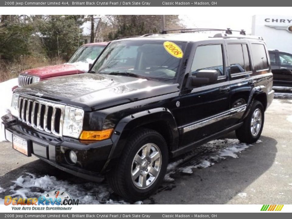 2008 Jeep Commander Limited 4x4 Brilliant Black Crystal