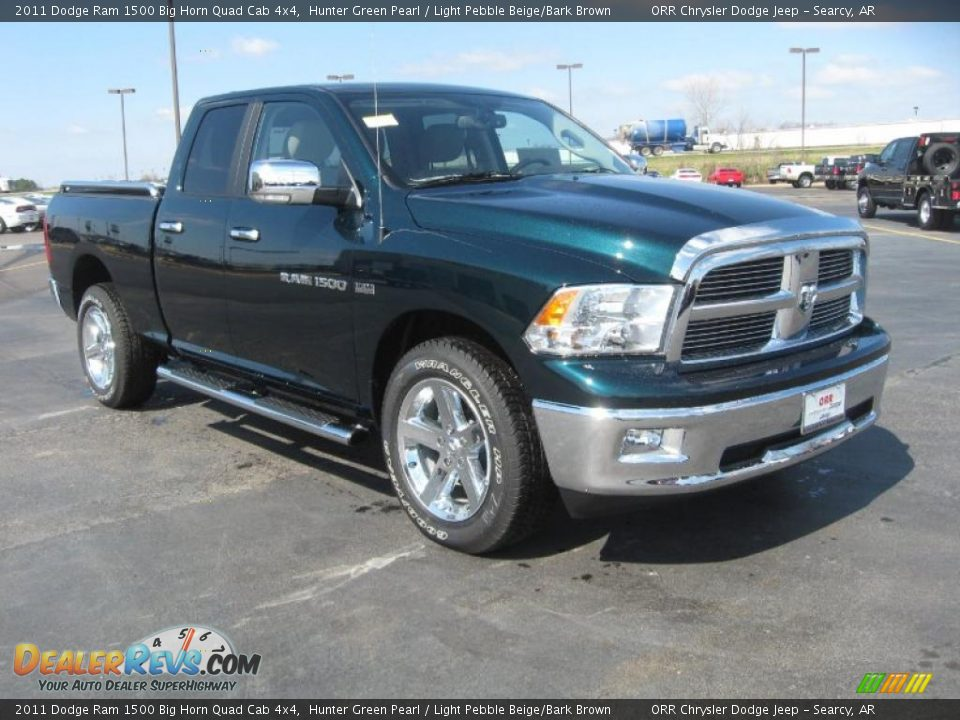 2011 dodge ram 1500 big horn quad cab 4x4 hunter green pearl light pebble beige bark brown. Black Bedroom Furniture Sets. Home Design Ideas