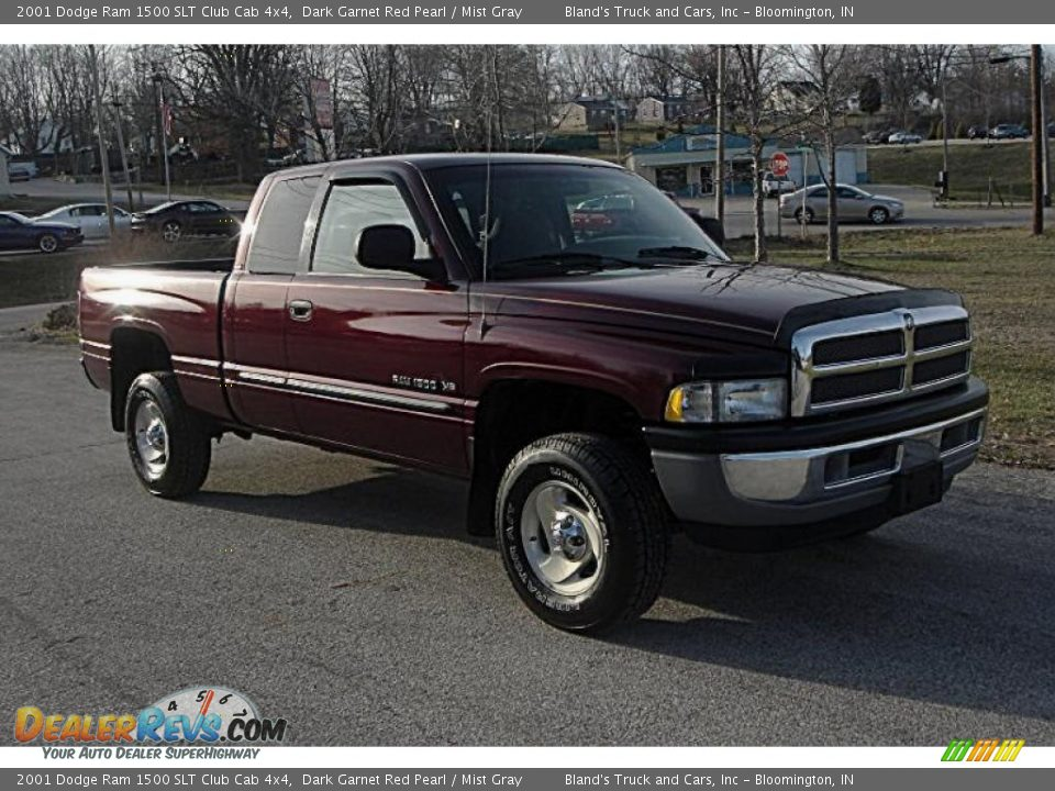 2001 dodge ram 1500 slt club cab 4x4 dark garnet red pearl mist gray photo 1. Black Bedroom Furniture Sets. Home Design Ideas