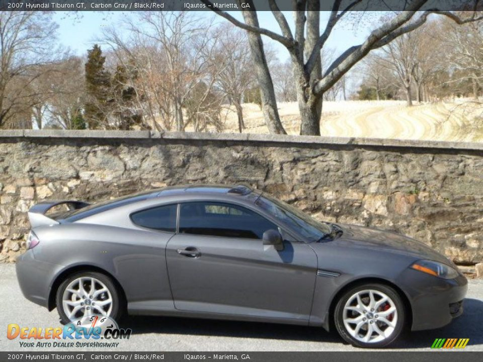 2007 hyundai tiburon gt carbon gray black red photo 11. Black Bedroom Furniture Sets. Home Design Ideas