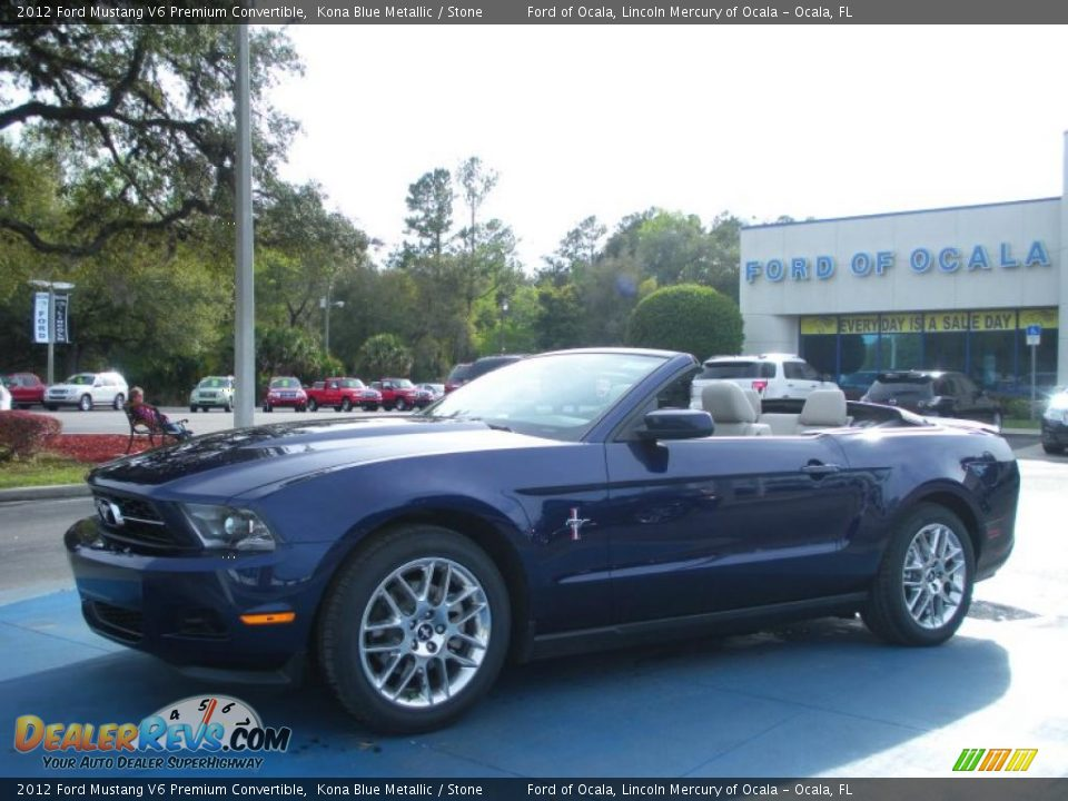 2012 ford mustang v6 premium convertible kona blue metallic stone photo 4. Black Bedroom Furniture Sets. Home Design Ideas