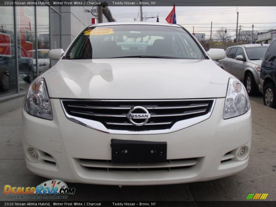 2010 Nissan Altima Hybrid Winter Frost White Charcoal