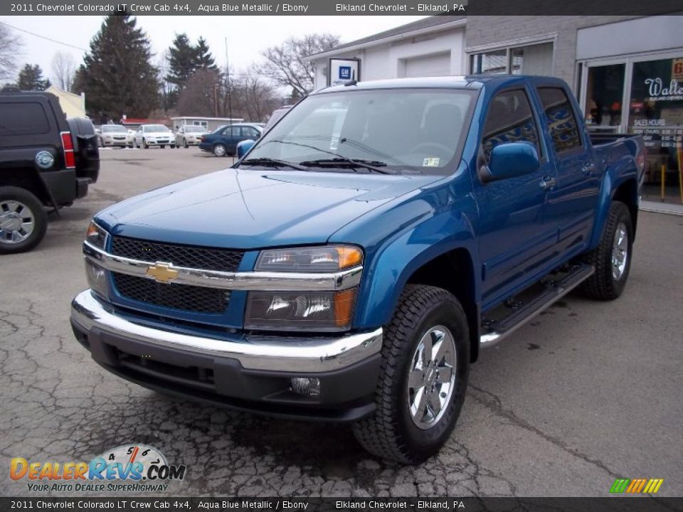 2011 chevrolet colorado lt crew cab 4x4 aqua blue metallic. Black Bedroom Furniture Sets. Home Design Ideas