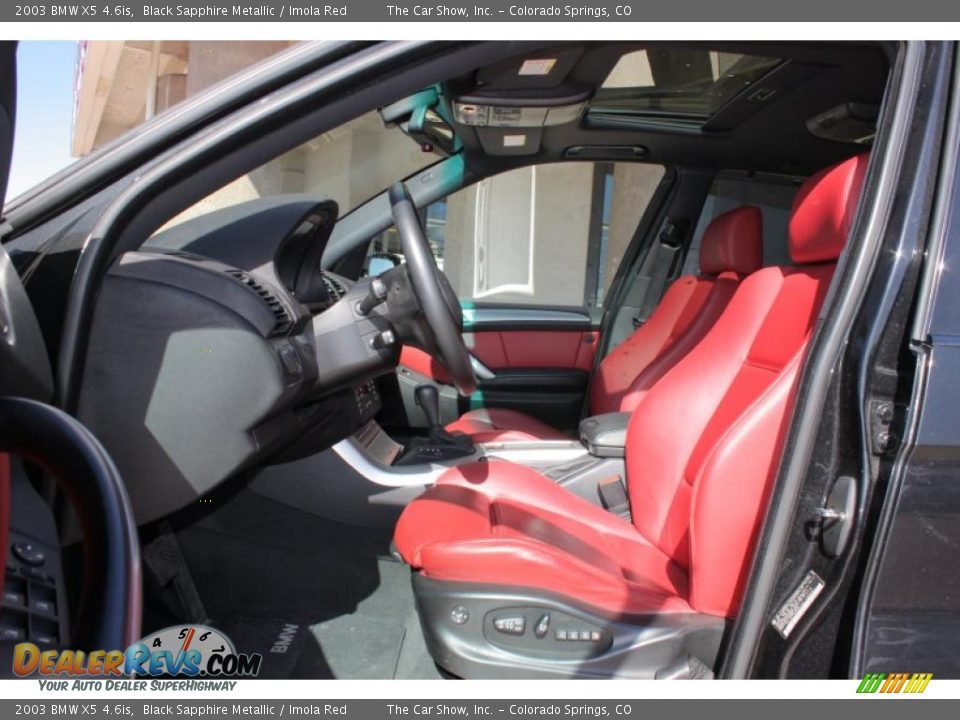 Imola Red Interior 2003 Bmw X5 4 6is Photo 5