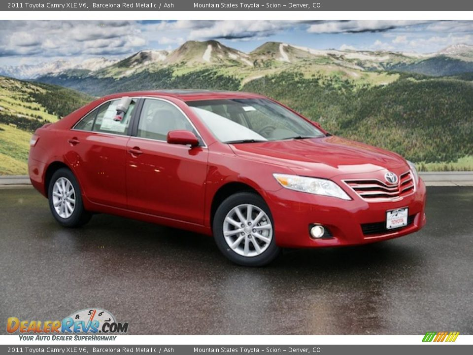 2011 toyota camry xle v6 barcelona red metallic ash. Black Bedroom Furniture Sets. Home Design Ideas
