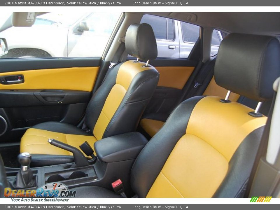black yellow interior 2004 mazda mazda3 s hatchback. Black Bedroom Furniture Sets. Home Design Ideas