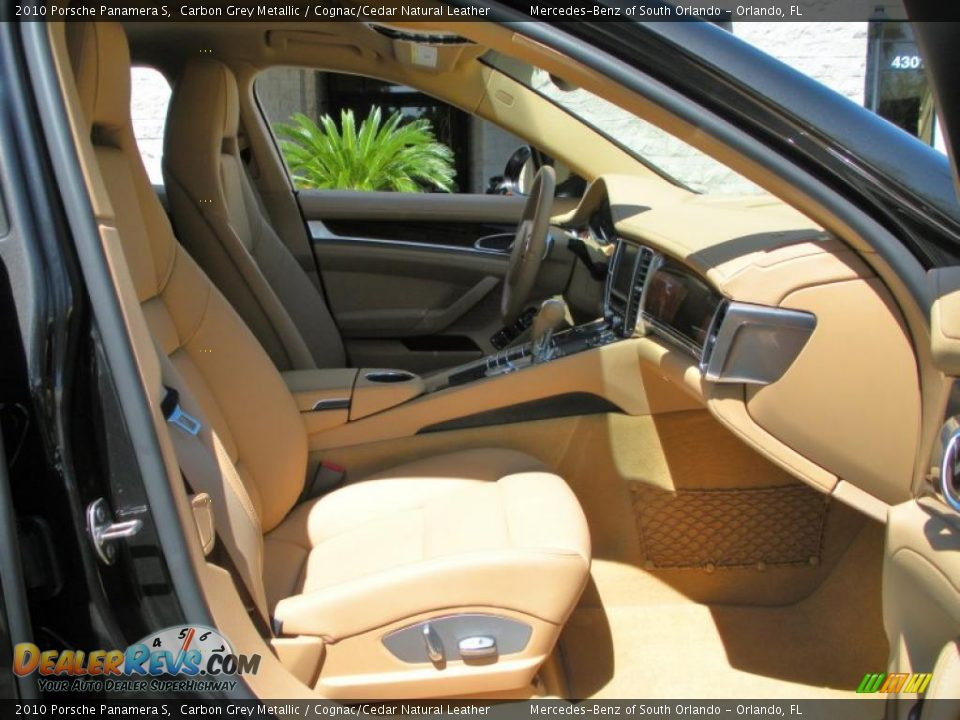 cognac cedar natural leather interior 2010 porsche panamera s photo 15. Black Bedroom Furniture Sets. Home Design Ideas