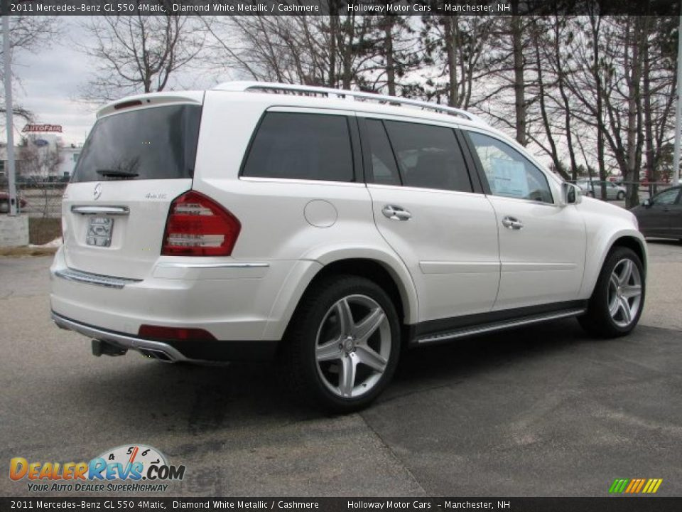 2011 mercedes benz gl 550 4matic diamond white metallic for Mercedes benz 550 gl