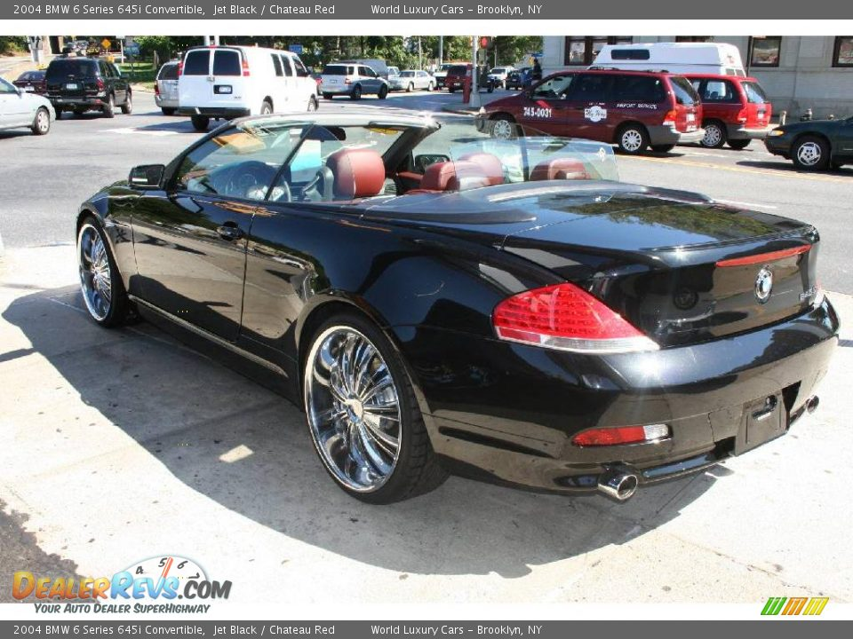 2004 Bmw 6 Series 645i Convertible Jet Black Chateau Red