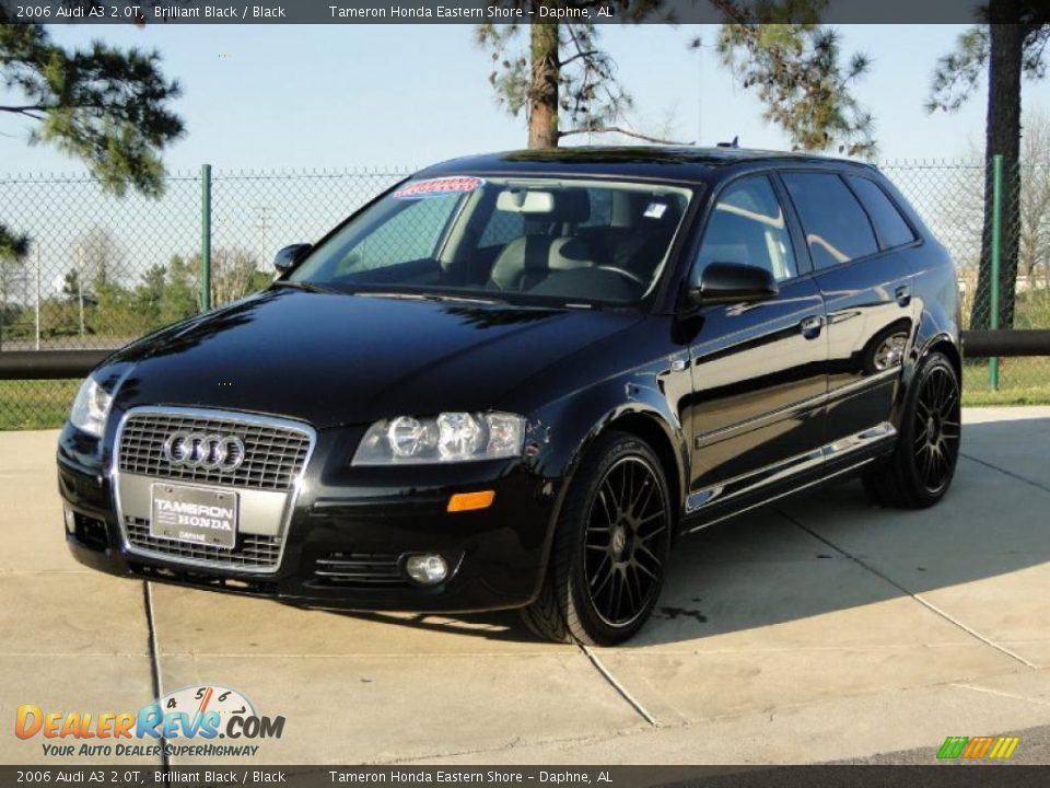 2006 Audi A3 2 0t Brilliant Black Black Photo 8