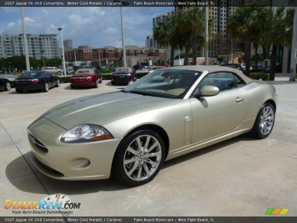 winter gold metallic 2007 jaguar xk xk8 convertible photo. Black Bedroom Furniture Sets. Home Design Ideas