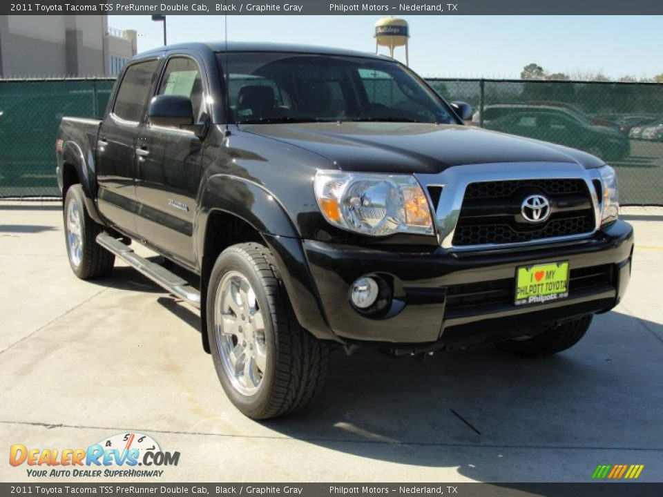 Black 2011 Toyota Tacoma Tss Prerunner Double Cab Photo 1