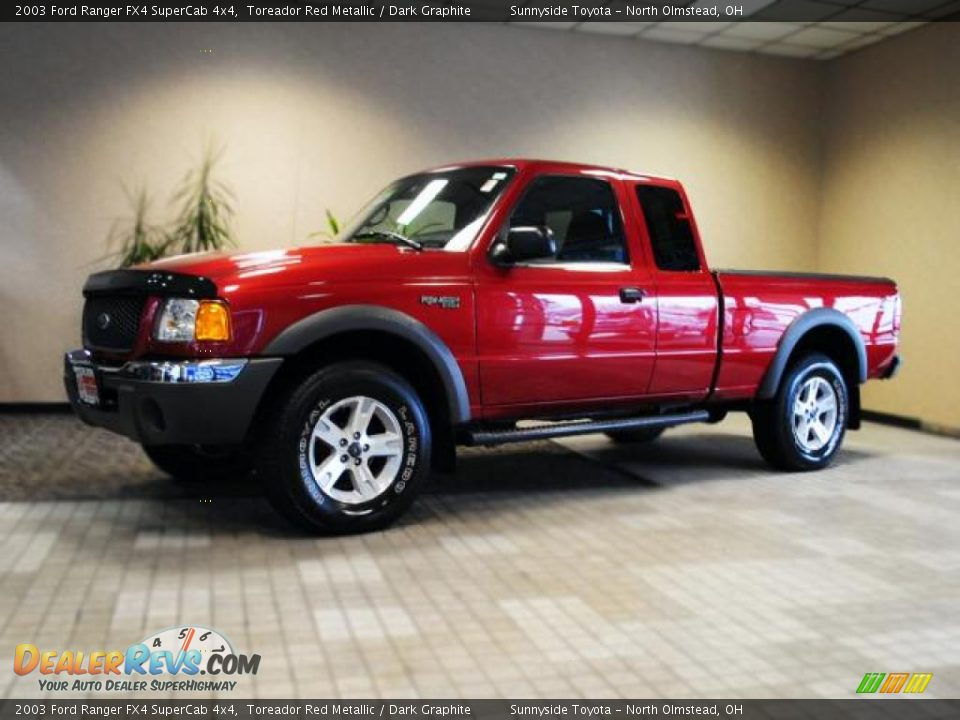 2003 Ford Ranger Fx4 Supercab 4x4 Toreador Red Metallic
