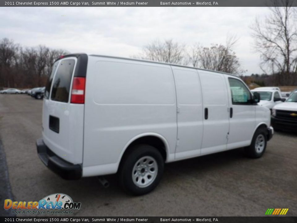 2011 chevrolet express 1500 awd cargo van summit white medium pewter photo 7. Black Bedroom Furniture Sets. Home Design Ideas