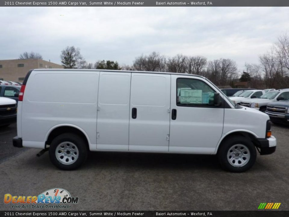 2011 chevrolet express 1500 awd cargo van summit white medium pewter photo 8. Black Bedroom Furniture Sets. Home Design Ideas