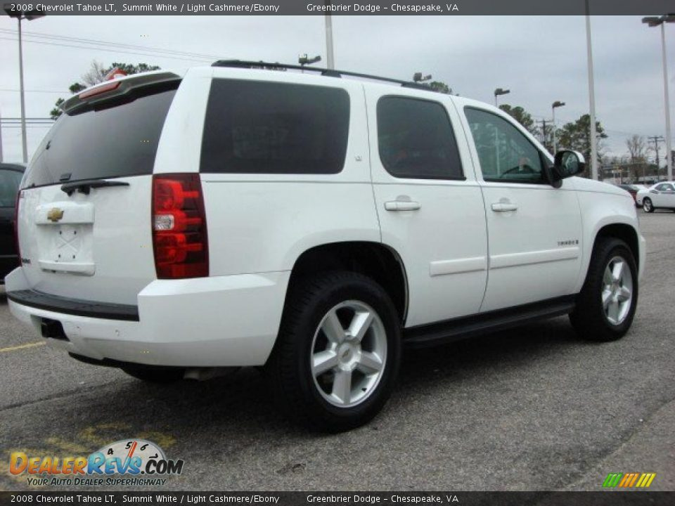 Used Chevy Tahoe >> 2008 Chevrolet Tahoe LT Summit White / Light Cashmere/Ebony Photo #6 | DealerRevs.com